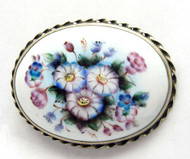 Oval Finift Enamel Brooch