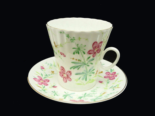 Golden Mosquitoes Bone China Tea Cup and Saucer
