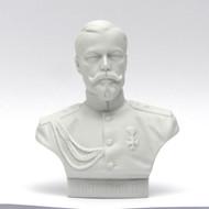 Tsar Nicholas II Bust Fine Bisque Porcelain