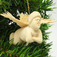 """Winged Cherub"" Carved Ornament"