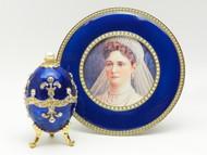 Tsarina Alexandra Portrait with Pearl Egg