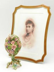 Tsarina Alexandra Portrait with Victorian Egg