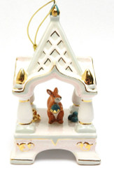 """Magic Squirrel"" Majolica Ornament"
