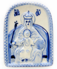 """""""Enthroned"""" or """"Reigning"""" Mother of God Icon"""