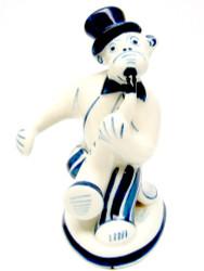 Monkey Playing the Saxophone (Мартышка Саксофонист) Gzhel Figure