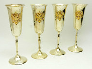 Champagne Flutes with Russian Double Headed Eagle  - IRAA