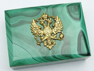 Russian Double Eagle Malachite Box - IRAA
