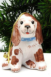 Cute Puppy Majolica Ornament