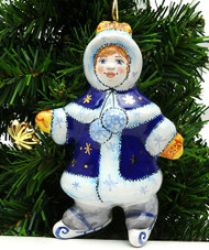 Snow Maiden on Skates Ornament