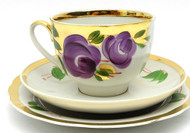 "Vintage ""Agashka"" Tea Cup, Saucer and Plate"