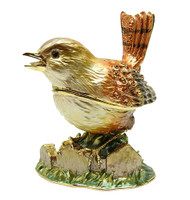 Shaded Enamel Wren Jewelry Box