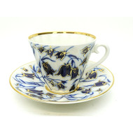Blue Bells Teacup and Saucer [USSR]