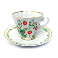 Strawberries Cup and Saucer [USSR]