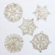 """Снежинка"" (SnowFlake) Russian Filigree Christmas Ornaments"