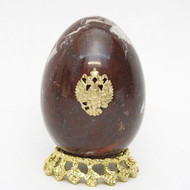 Marble Imperial Russian Eagle Egg Mahogany 2