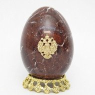 Marble Imperial Russian Eagle Egg Mahogany 4