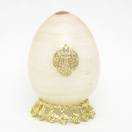 Onyx Imperial Russian Eagle Egg