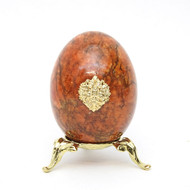 Marble Imperial Russian Eagle Egg M8