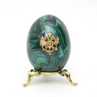 Imperial Russian Eagle Malachite Egg MC4
