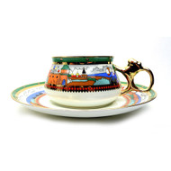 Ivan Bilibin Medieval Russia Tea Cup and Saucer