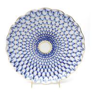 Cobalt Net Cake Plate, USSR era