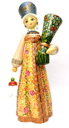 Central Russia Costume Wooden Doll