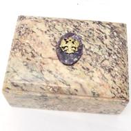 Russian Imperial Eagle Charoite Keepsake Box