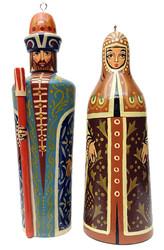 Medieval Boyar and Boyarina Ornament Set