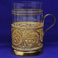 Golden Sunshine Russian Tea Glass at the Russian Shop