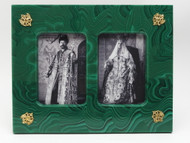 Tsar and Tsarina  Cultured Malachite Frame
