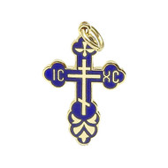 Small Blue Enamel Cross
