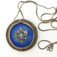 Lapis Lazuli Pendant w/ Russian Eagle