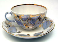 Moonlight Tea Cup and Saucer from Lomonosov Porcelain