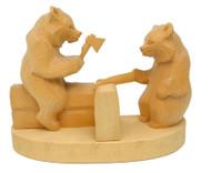 Carpenter Bears (Строители) Bogorodsk Tableau Carving