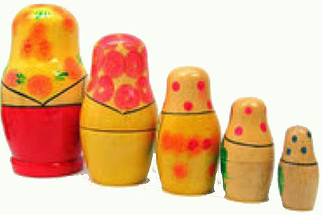 Vyatka Matryoshka Doll  5pc
