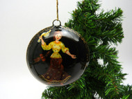 Russian Painted Christmas Ornament - Dancing Girl