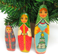 Three Sisters Hand Made Ornament Set