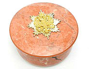 Faux Rhodonite Porcelain Box