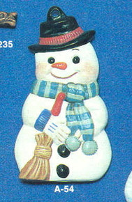 A-054 Snowman Ornament Mold