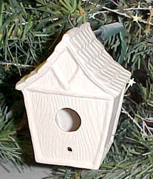 Bird House Ornament