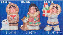 Ceramic molds, Alberta Christmas Ornaments 3 eskimos