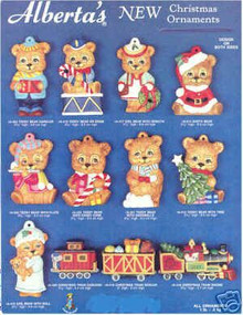 Ceramic molds, Alberta Christmas Ornaments 12 Bears