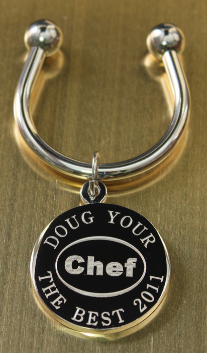 Chef Engraved Keychains