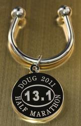 Engraved Half Marathon Keychain