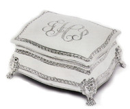 Personalized Footed Figaro Jewelry Box at Simply Irresistible