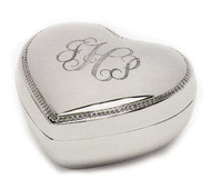 Personalized Heart Shaped Jewelry Box at Simply Irresistible