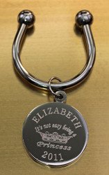Princess engraved keychain.