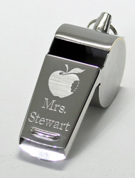 Teacher Whistle With Apple Graphic