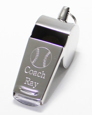 Baseball Whistle Engraved