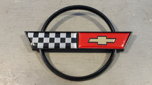 1984-1990; C4; Rear Fuel Gas Door Lid Emblem